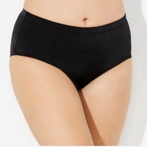 NWT Swimsuits For All black full coverage brief 16